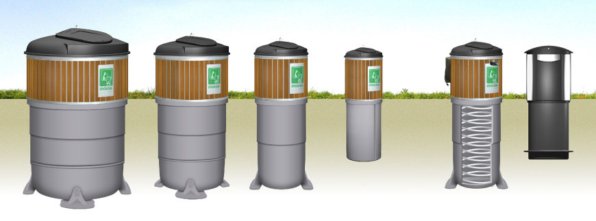 a group of molok garbage disposal containers in london ontario